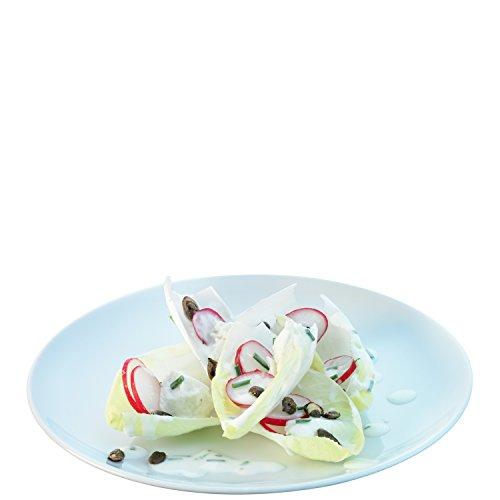 LSA International Dine Starter/Dessertteller Coupe 20cm, weiß (4Stück) Coupe Dinner Plate