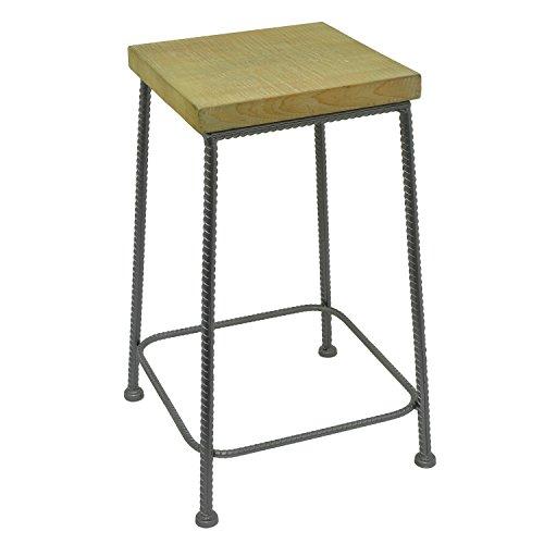 Drei Hände Holz und Metall Ende Tisch mit 60,1Details (Sunburst Beistelltisch)