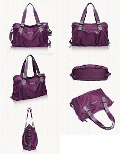 Yokeeyoo, Borsa a zainetto donna viola Purple s Black