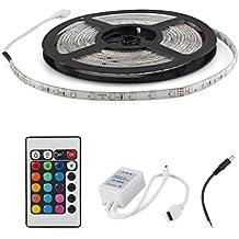 Tira Luz Cinta Impermeable 300 LED SMD 3528 DC 12V RGB 5m + Mando A Distancia