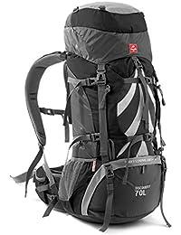 QRFDIAN Mochila de Picnic Mochila de Excursionismo Profesional al Aire Libre Mochila de Camping Gran Capacidad 70 litros Bolsa de…
