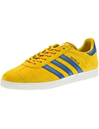 meet 9fd09 e09e5 adidas Mens Gazelle Nomad Yellow Core Blue Suede Trainers 40 23 EU