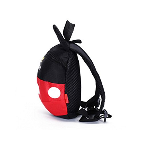 Image of HZX Store Disney Mickey Mouse Toddler School bag, Travel Backpack Bag,Safety Harness Leash,Playful Preschool Lunch Boxes Carry Bag Backpack (Small)
