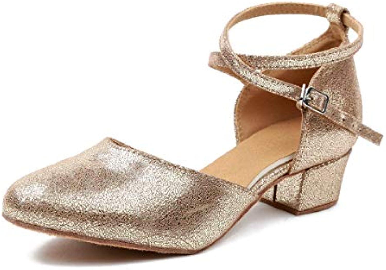 cf5edc6a7622 ZHRUI Cinturino alla alla alla Caviglia da Donna, oro, Glitter, Ballo  Latino, Scarpe da Sposa, UK 4 (Coloreee -, Dimensione.