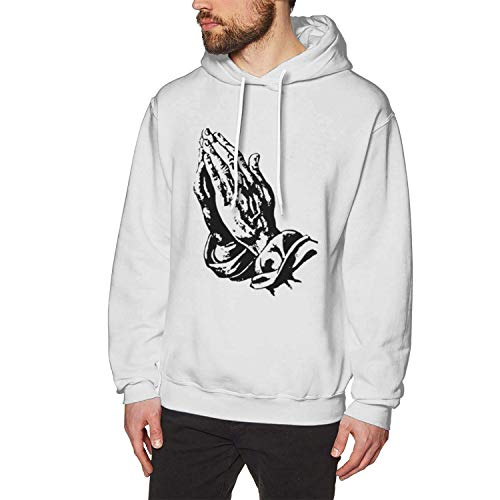 lanjiangbaih Male Classic Print with 6 Pray Hands OVO Drake Owl Design Pullover Hoodie Hooded,Medium