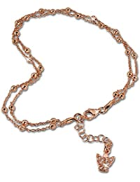 SilberDream Chaine de Cheville - Ange - 27cm Argent sterling 925 - Bracelet de cheville - Bijoux Pied SDF2174E
