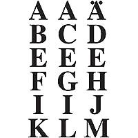 Avery Zweckform 3723, lettere A-Z 15,5mm (tenuta forte), 36fogli lettere nero - 2 Autoadesivi Lettere