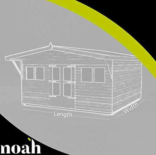 Avant Garde 12x 10- Cobertizo, caseta de jardín, garaje resistente de madera