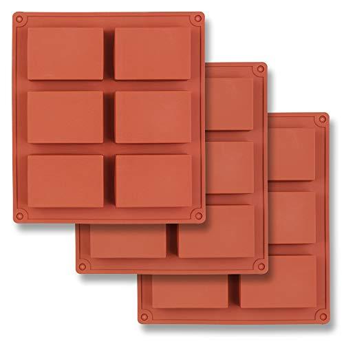 HomEdge Molde silicona rectangular 6 cavidades, 3