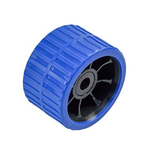 Sliprolle 120 x 74 mm, Polyurethan blau, Bohrung 21 mm