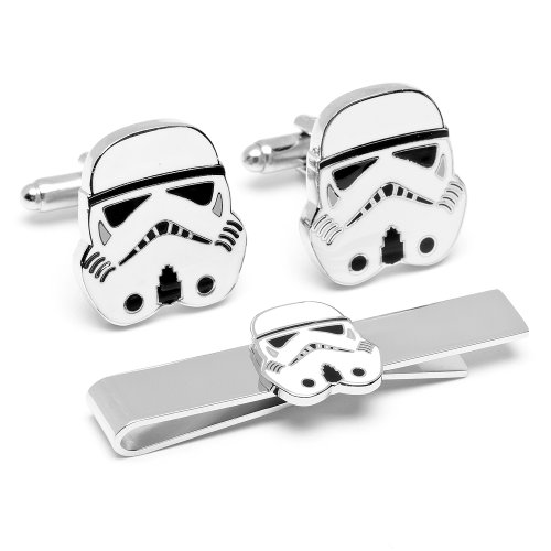 Officially licensed by Lucasfilm Star Wars Stormtrooper Cufflinks and Tie Bar Gift Set