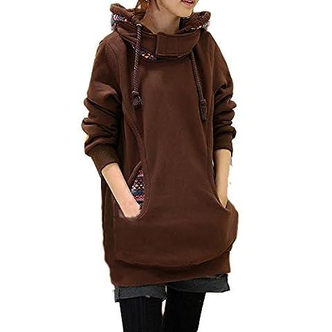 Minetom Femme National Style Hoody Veste à Capuche de Pull