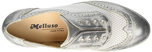 MELLUSO R30700, Sneaker a Collo Basso Donna Argento (Acciaio)