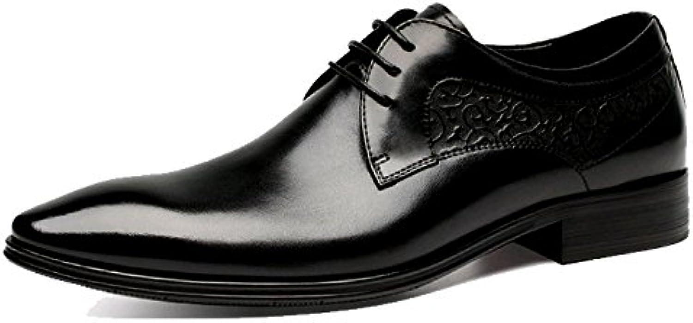 ZQZQ Inglaterra, Señaló, Hombres, Negocios, Ropa Formal, Zapatos De Cuero, Zapatos De Hombre, Zapatos De Boda -
