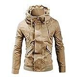 Luckycat Männer Winter Langarm Tasche Stehkragen Zip Outwear Jacke Mantel Plus Größe Winterjacke Steppjacke Daunenjacke Parka Mäntel Jacken