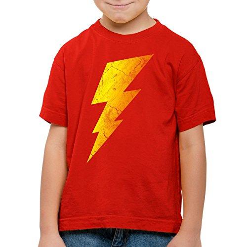CottonCloud Sheldon Lightning Bolt Kinder T-Shirt, Farbe:Rot;Größe:164