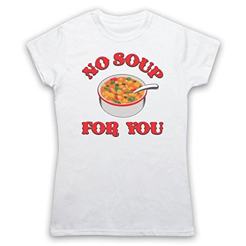 Inspiriert durch Seinfeld Soup Nazi Unofficial Damen T-Shirt Weis