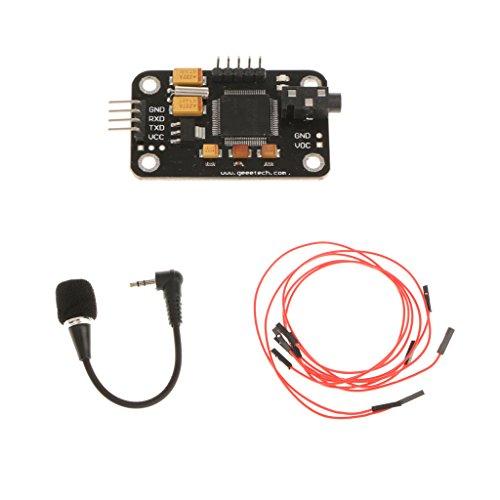 Dolity Modulo Riconoscimento Vocale Con Cavo A 4 Pin Per Arduino - Nero