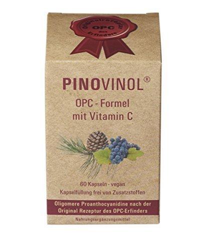 OPC Pinovinol | Testsieger auf opc-doc.com | Klinisch getestet | Ohne Zusatzstoffe | Nahrungsergänzungsmittel | Superfood | Vegan | Aus Pinienrinden- und Traubenkernextrakt | 60 Kapseln | 270mg