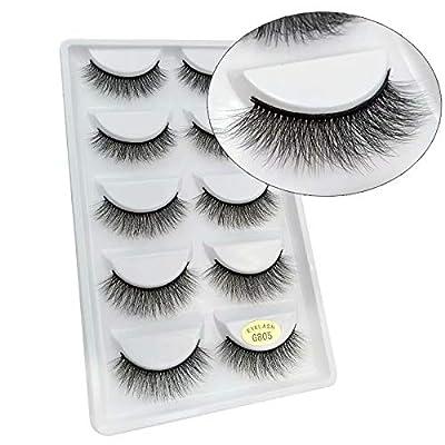 3D Natural Look Fake Eye Lash False Eyelashes Extension Makeup 1 Pairs