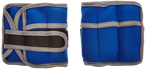 ScSPORTS Gewichtsmanschetten Armgewichte Fußgewichte Laufgewichte, 2 x 1 kg, herausnehmbare Gewichte, Klettverschluss, blau