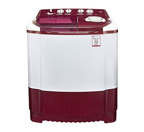 LG 6.5 kg Semi-Automatic Top Loading Washing Machine (P7559R3FA, Burgundy)