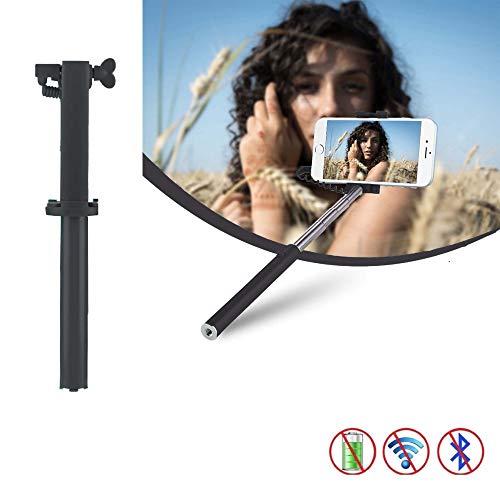 X-Tab Selfie Stick für MEDION Life E5020 Selfie Stange Stick Halterung Mini Handy - UStick Schwarz