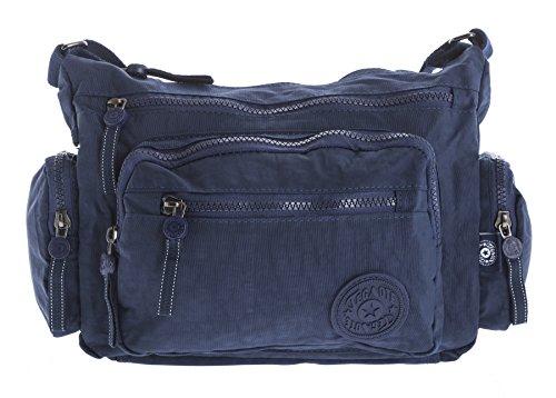 Big Handbag Shop, Borsa a tracolla donna Messenger Style 1 - Navy