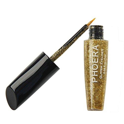 Xshuai Eyeliner 2018 Neue 10 Farbe Make-Up Metallic Shiny Augen Lidschatten Wasserdicht Glitter...