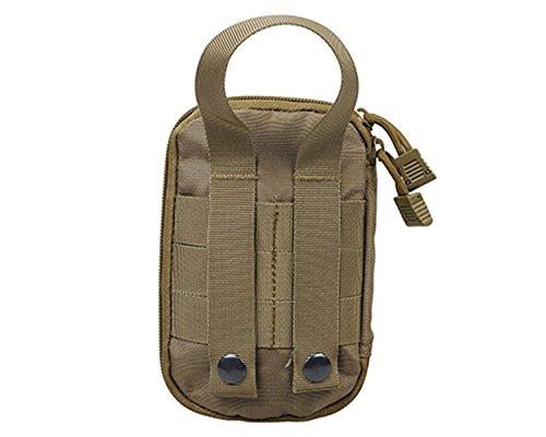Force Valley Military EDC Werkzeug Zubehör Tasche Tactical Taille Tasche Griff 1000D Nylon mit Gürtel hautfarben
