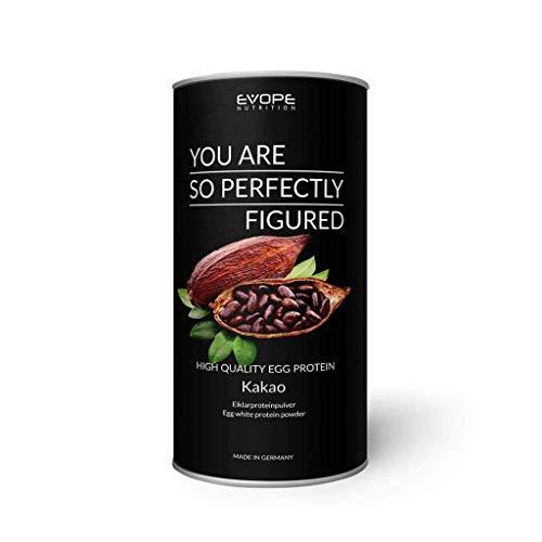 High Quality Egg Protein Pulver Shake Laktosefrei Eiweißpulver Proteinshake Aminosäuren Low Carb Kakao (1 x 750g)