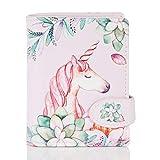 Shagwear Portemonnaie Geldbörse für Junge Damen – Mädchen Geldbeutel portmonaise Designs: (Einhorn/Unicorn Pink)