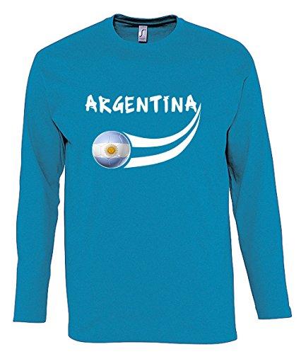 Supportershop-Camiseta Hombre L/S Cielo Argentina