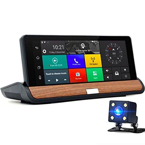 taottao Professionelle Auto DVR GPS mit zwei Cam 1080P fh7inch Android 3G + WIFI Dash Video H264 Dash Cam