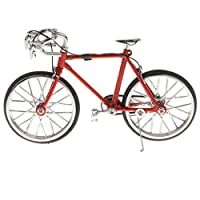 D DOLITY 1:16 Scale Alloy Diecast Racing Bike Model Replica Bicycle Cycling Toy Desk Craft Collection Red