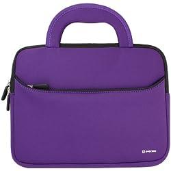 evecase étui en néoprène avec poignée (265x200x20mm) - Violet et Noir pour Tablette 8.9 à 10.1 Pouces pour iPad Air, iPad Pro, Samsung Galaxy Tab 4 10.1