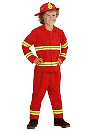 Widmann wdm03944–Kostüm für Erwachsene Feuerwehrmann, schwarz, XL
