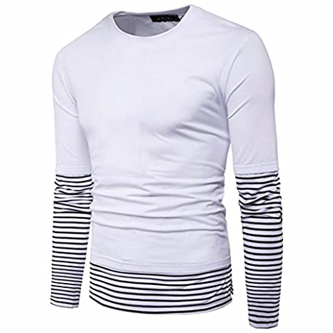 Herren Top Sonnena Casual Business Slim Fit Hemd Long Sleeve Shirt Solid Bluse XL weiß
