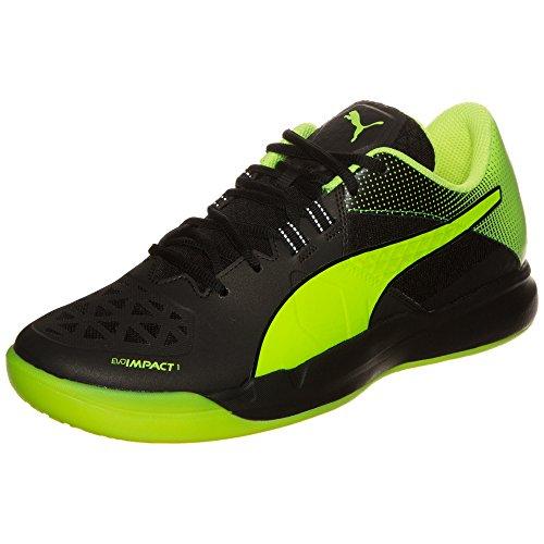 Puma Evoimpact 1.2, Chaussures de Football Compétition Homme Noir/jaune fluo