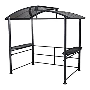 Leco 13800999 abri pour barbecue 225 x 160 cm for Grill pavillion