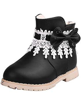 OYSOHE Baby Jungen Mädchen Winter Schneeflocke Martin Sneaker Stiefel, Kinder PU-Leder Warme Freizeitschuhe (0...