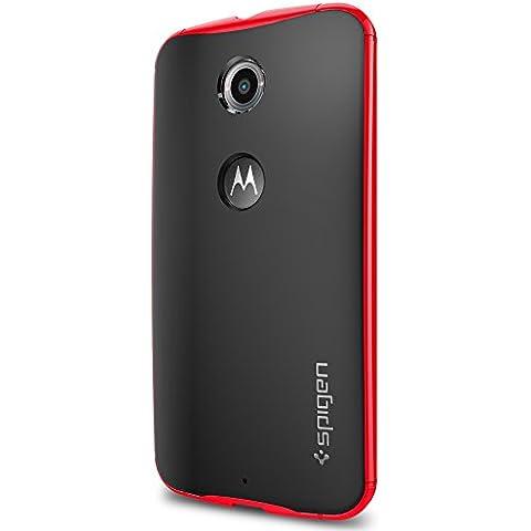 Spigen SGP11240 - Funda para Nexus 6, Negro/Rojo