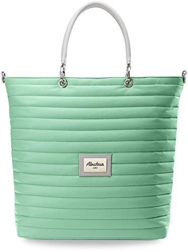 Trapuntato da donna–Borsa a mano shopper bag must have di questa stagione, menta (grigio) - 886 menta