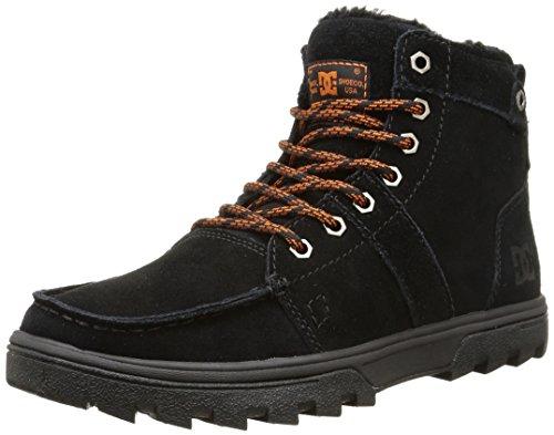 DC Shoes WOODLAND M, Stivaletti a gamba corta mod. Classics, senza imbottitura uomo, Nero (Schwarz (Black/Orange BO1)), 44.5