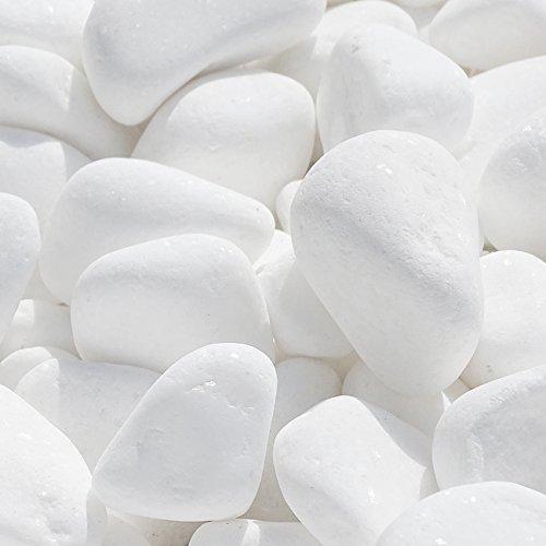 Marmorkies SNOW rein weiß schneeweißer Garten Kies Warenprobe (15/28 mm 950g)
