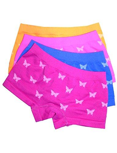 Mädchen Panty (LisaModa Mädchen Panty 4er Pack Seamless bunt Schmetterling 104-110)
