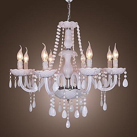 ASNSWDC® FONTANA - Lampadario in cristallo con 8 lampadine , 220-240V