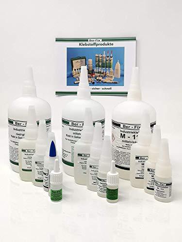 Ber-Fix Klebstoff-Set 2 zum kleben von Silikon Pe PP Teflon (PtfE) 10g Industriekleber dünnflüssig 5ml Primer