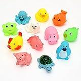 Euphoric INC Baby Bath Toys (Set of 12) (Multicolor)