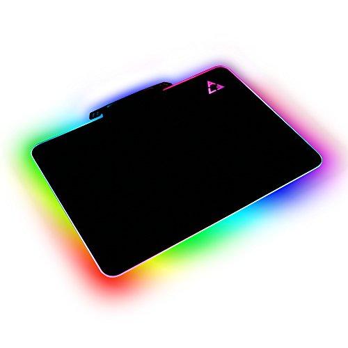 Preisvergleich Produktbild LED Beleuchtung Hard Gaming Maus Pad, RGB Colorful Computer Notebook Mac Mäuse Matte–Schwarz